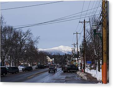 North Conway Winter Mountains Downtown Canvas Print