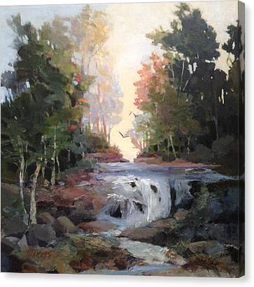 Canvas Print featuring the painting North Creek ...revisited by Helen Harris