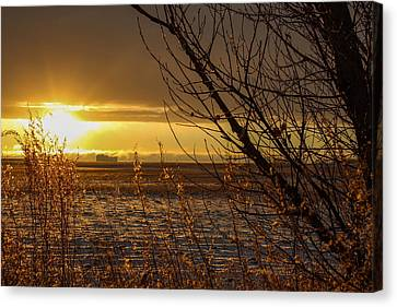 North Dakota Sunset Canvas Print