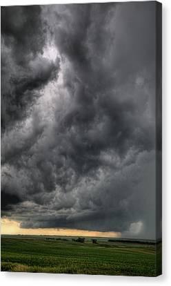 North Dakota Thunderstorm Canvas Print