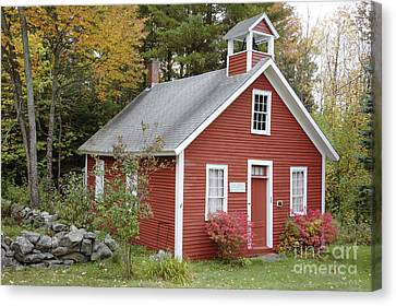 Old School Houses Canvas Print - North District School House - Dorchester New Hampshire by Erin Paul Donovan