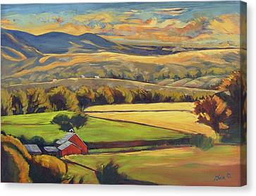 North Fork Panorama Canvas Print