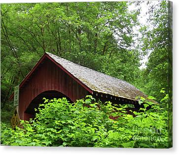 North Fork Yachats Bridge 1 Canvas Print by Methune Hively
