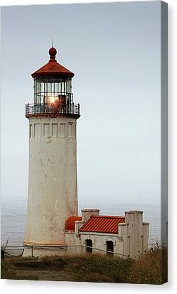 North Head Lighthouse - Ilwaco On Washington's Southwest Coast Canvas Print by Christine Till