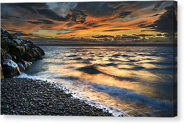 North Jetty Sunset Canvas Print