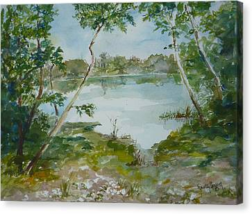 North Lake Canvas Print by Dorothy Herron