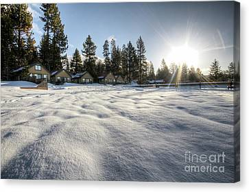 North Lake Tahoe Beach Snow Canvas Print by Dustin K Ryan