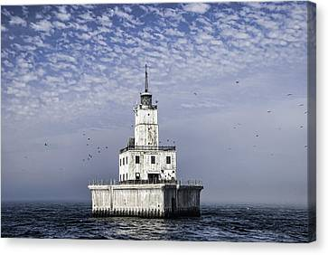 North Manitou Shoal Light Canvas Print