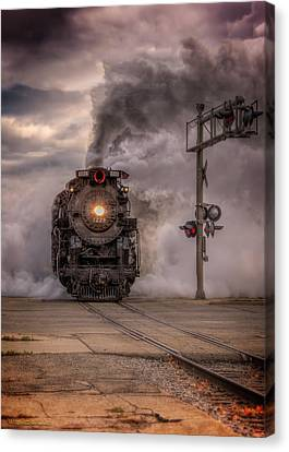 North Pole Express Steam Train 1225 Canvas Print