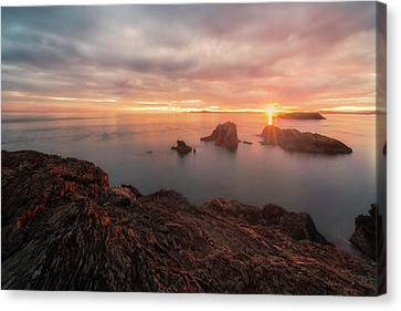 North Puget Sound Sunset Canvas Print by Ryan Manuel