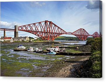 Canvas Print featuring the photograph North Queensferry by Jeremy Lavender Photography