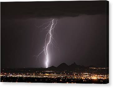 Carefree Arizona Canvas Print - North Scottsdale Lightning Monsoon by James BO  Insogna