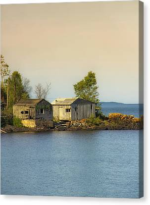 North Shore Old Buildings Canvas Print by Bill Tiepelman