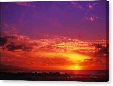 North Shore Sunset Canvas Print by Vince Cavataio - Printscapes