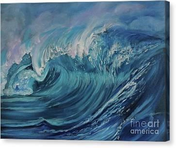 North Shore Wave Oahu Canvas Print