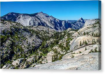 North Side Of Half Dome Valley Canvas Print by Brian Williamson