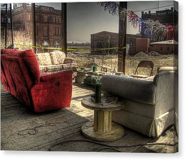 North St. Louis Porch Canvas Print by Jane Linders