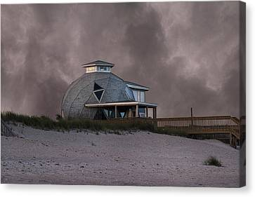 North Topsail Beach Dome Canvas Print by Betsy Knapp