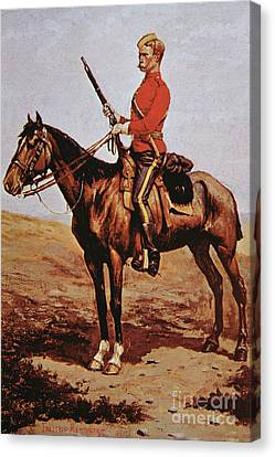 Police Canvas Print - North West Mounted Police Of Canada by Frederic Remington