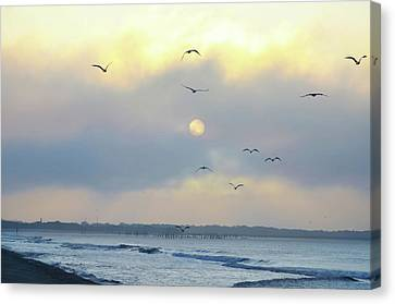 North Wildwood Beach Canvas Print by Bill Cannon