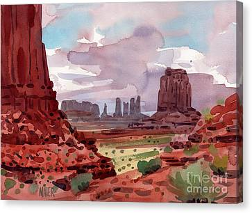 Monument Canvas Print - North Window View by Donald Maier