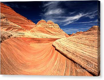 Northern Arizona Sandstone Swirls Canvas Print by Adam Jewell