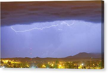 Northern Colorado Rocky Mountain Front Range Lightning Storm  Canvas Print