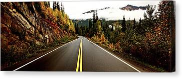 Northern Highway Yukon Canvas Print by Mark Duffy