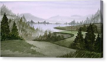 Northern Lake Golf Canvas Print by Sean Seal