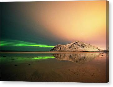 Northern Light In Lofoten Nordland 5 Canvas Print