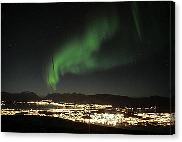 Northern Light In Troms, North Of Norway Canvas Print