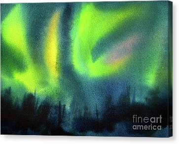 Canvas Print featuring the painting Northern Lights 3 by Kathy Braud