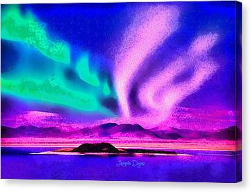 Northern Lights In Alaska Canvas Print