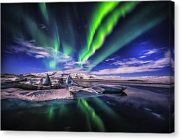 Northern Lights Canvas Print by Johannes Frank