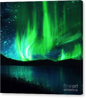 Northern Lights Canvas Print by Setsiri Silapasuwanchai
