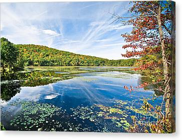 Northern New Jersey Lake Canvas Print by Ryan Kelly