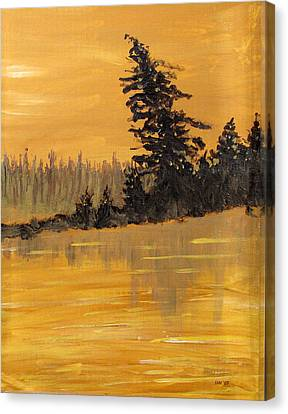 Canvas Print featuring the painting Northern Ontario Three by Ian  MacDonald