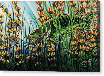 Northern Pike Canvas Print by Bob Crawford
