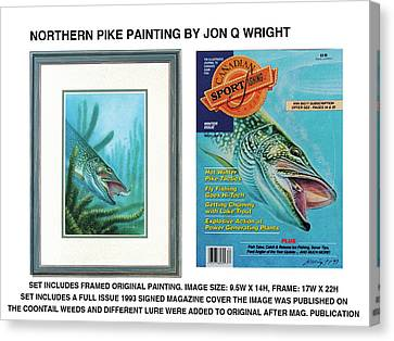 Northern Pike Original Canvas Print by Jon Q Wright