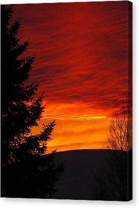 Northern Sunset 2 Canvas Print