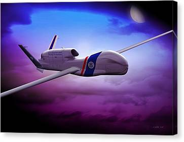 Northrop Grumman Rq4 Drone 2 Canvas Print by John Wills