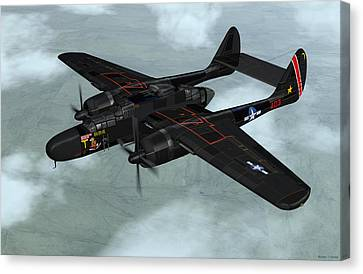 Northrop P-61 Black Widow Canvas Print by Walter Colvin