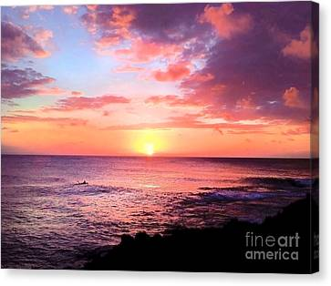 Northshore Sunset Canvas Print by Kristine Merc