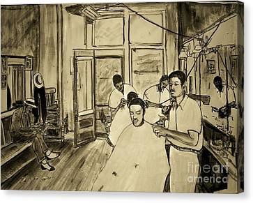 Northside Barber Shop Canvas Print by Tyrone Hart