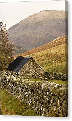 Northumberland, England Stone House Canvas Print by John Short