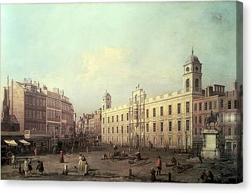 Northumberland House Canvas Print by Canaletto
