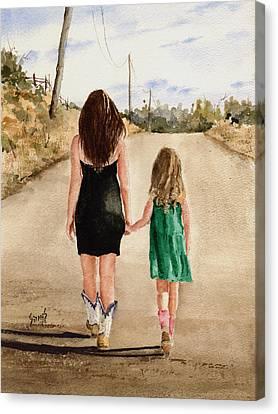 Northwest Oklahoma Sisters Canvas Print by Sam Sidders