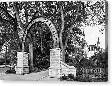 Il Canvas Print - Northwestern University The Arch by University Icons