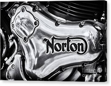 Canvas Print featuring the photograph Norton Commando 961 Engine Casing by Tim Gainey