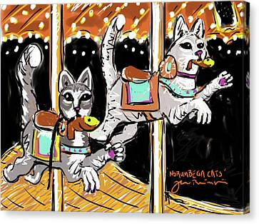 Norumbega Cats Canvas Print